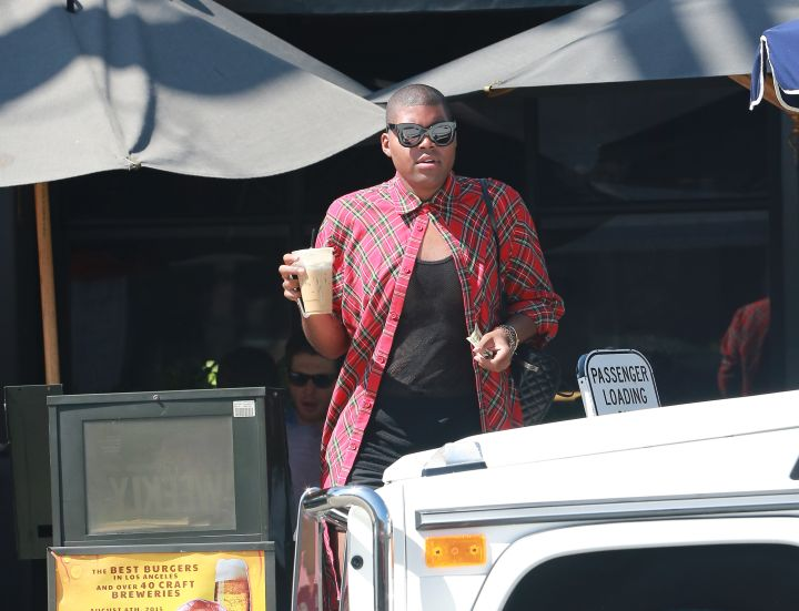 EJ Johnson grabbed some coffee in L.A.