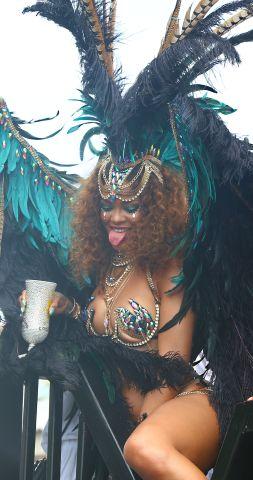 Rihanna celebrates Kadooment Day in Barbados