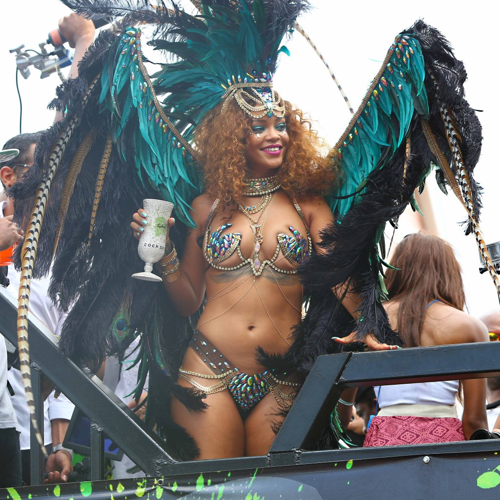 Rihanna celebrates Kadooment Day in Barbados