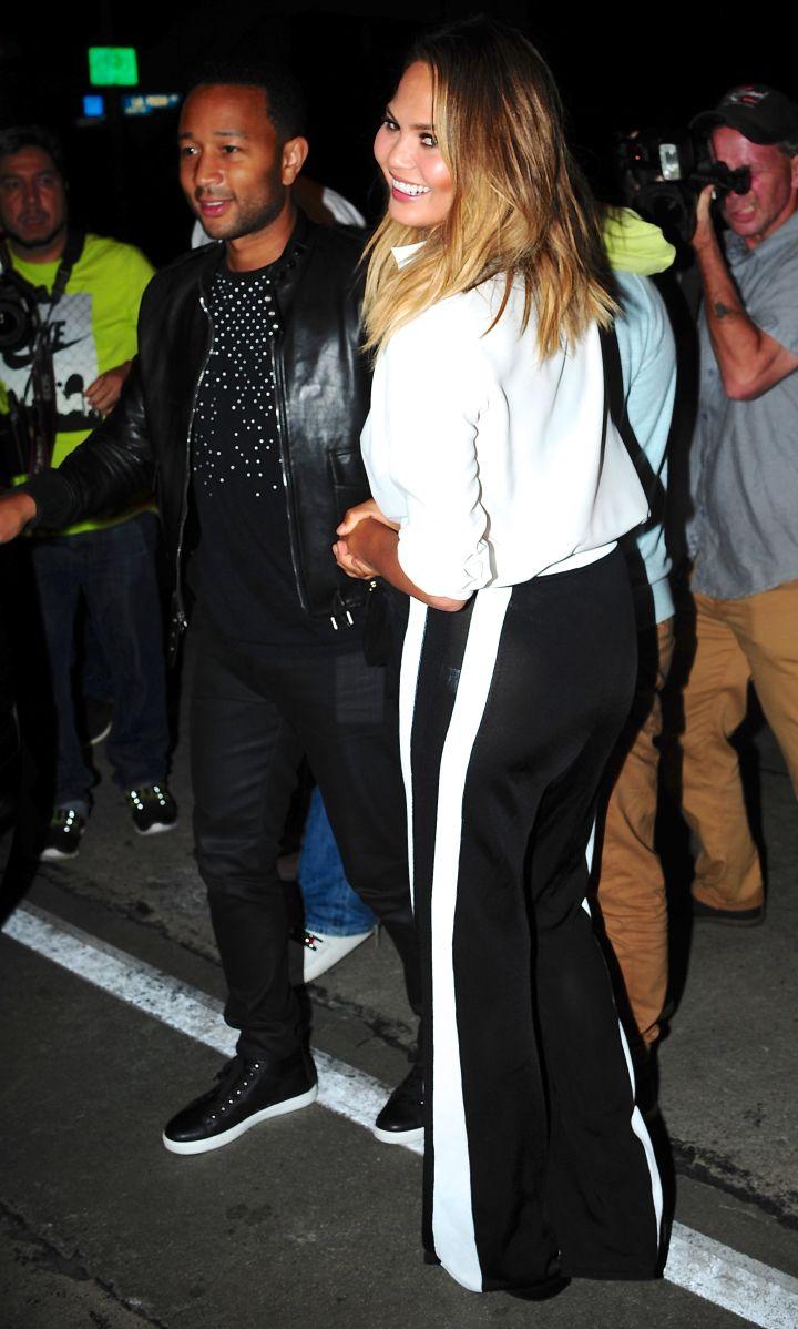Chrissy Teigen and John Legend rub their marital bliss in our faces outside of Craig's restaurant in Melrose.