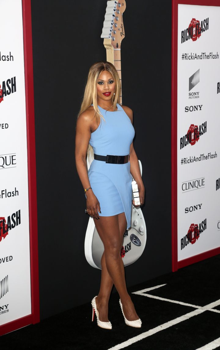 """Laverne Cox continues to put on at the """"Ricki and the Flash"""" premiere in NYC."""