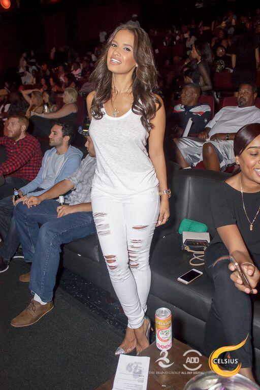 Rocsi Diaz was in attendance in all white.