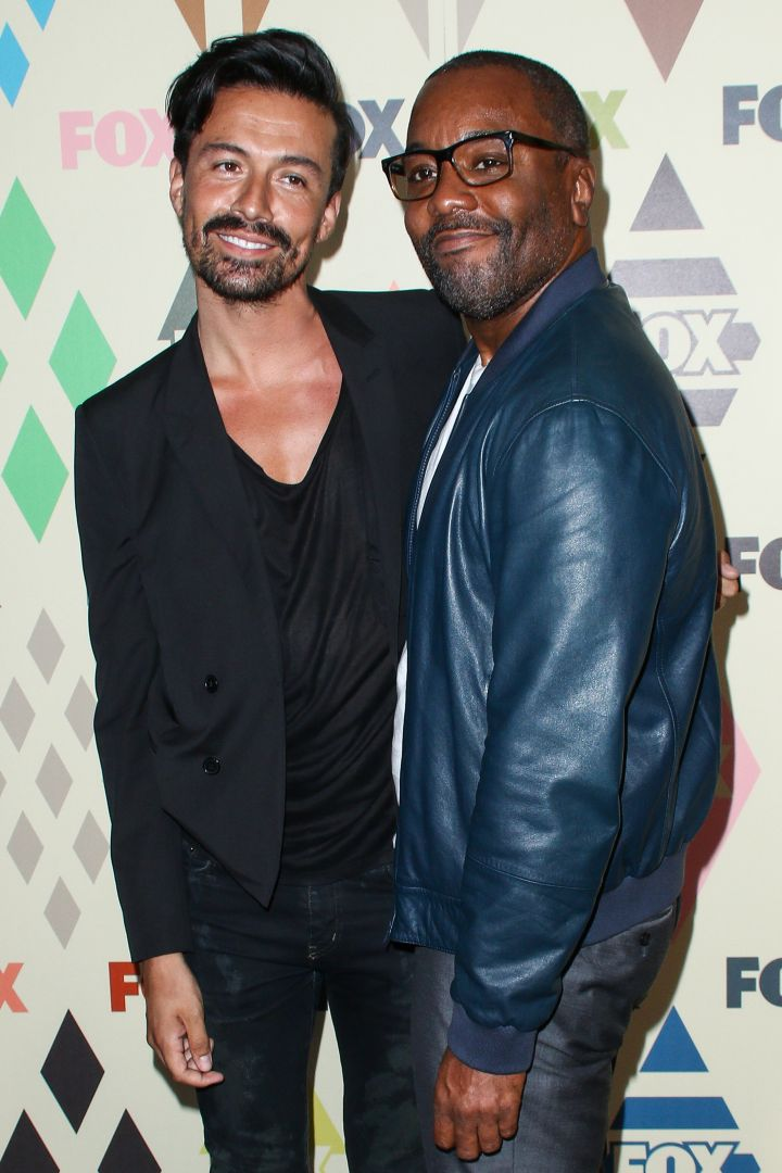"""Empire"" director Lee Daniels hit the TCA All Star Red Carpet with his boyfriend."