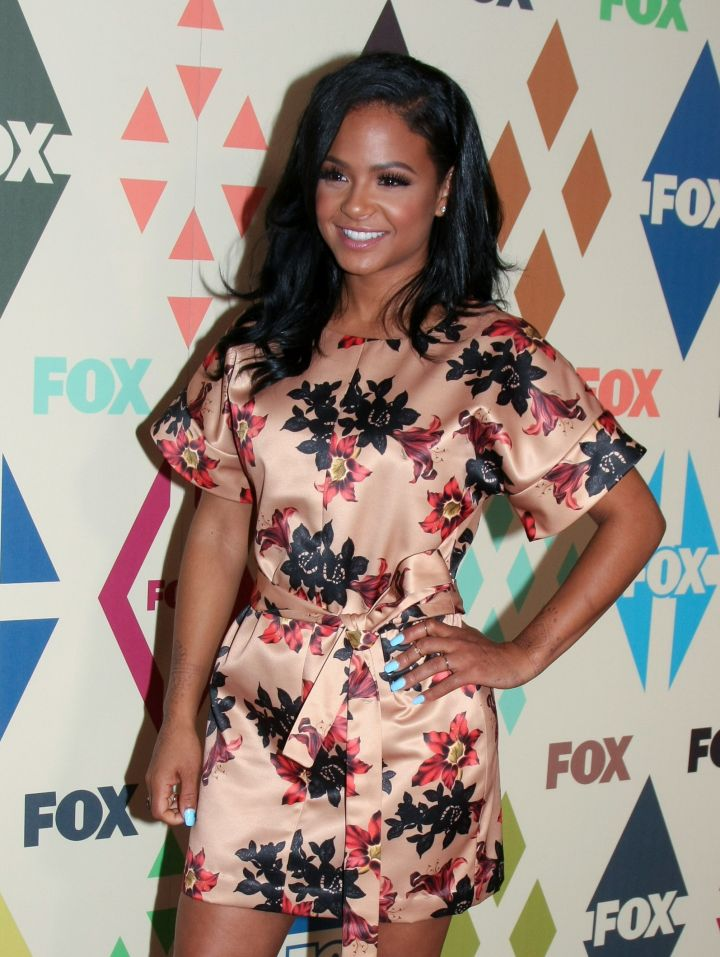 Christina Milian hit the red carpet of The Fox All Star Party.