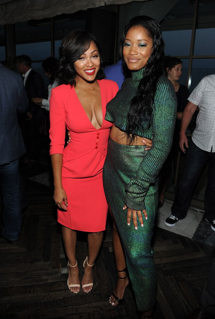 Megan Good was all smiles with Keke Palmer at the TCA All Stars Party.