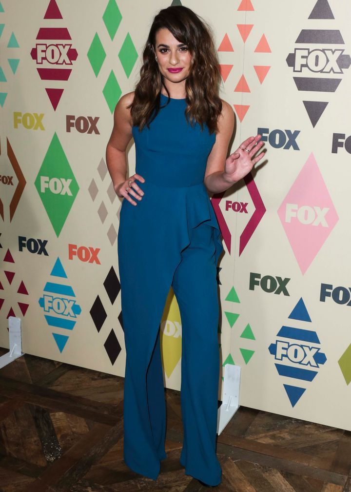 Lea Michele was bold in blue on the red carpet at the Teen Choice Awards All Star party.