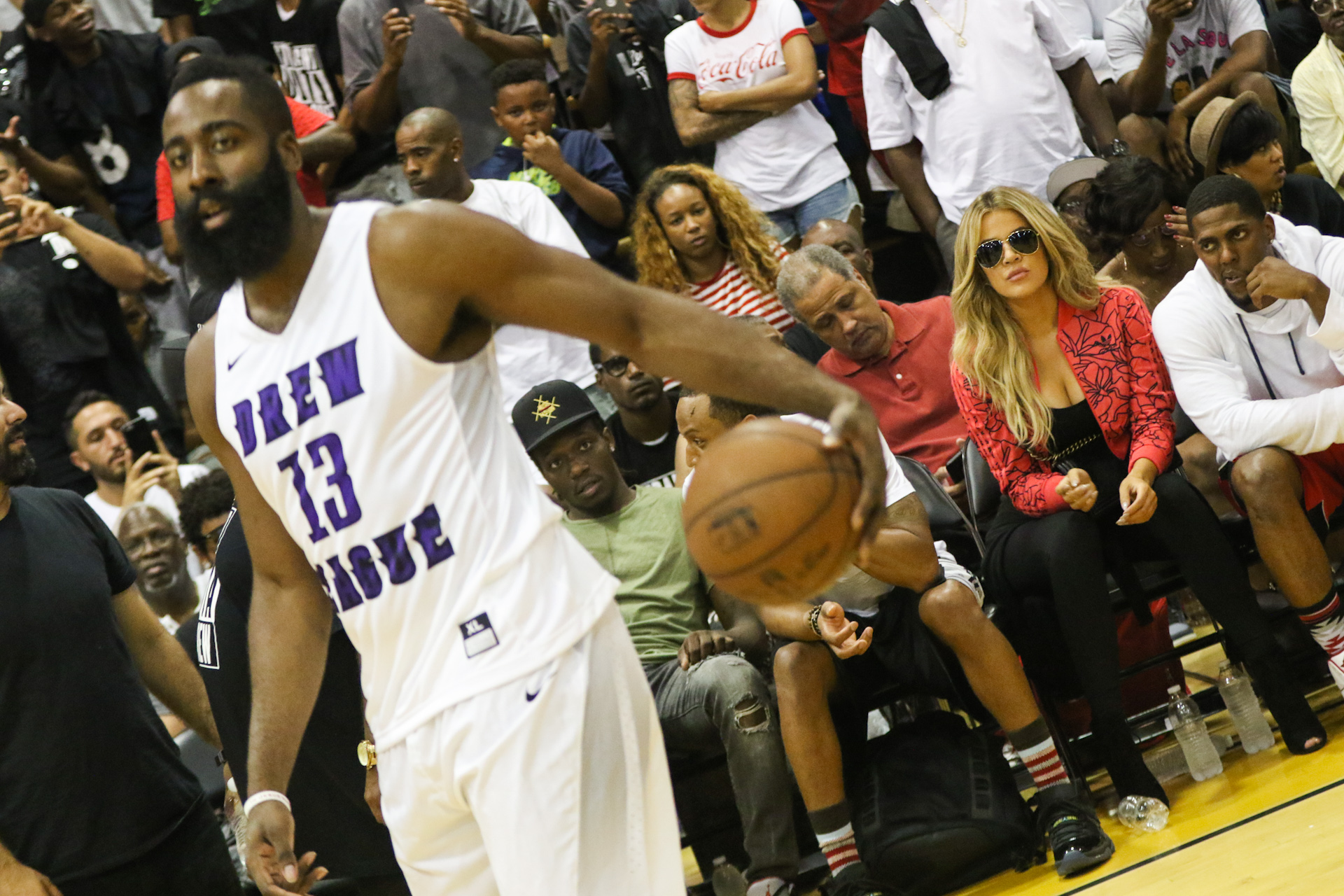 Khloe Kardashian attends reported boyfriend James Harden's Drew League basketball game in Compton