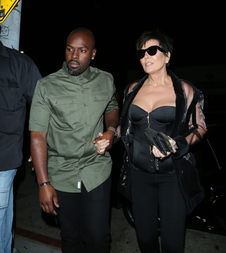 Kris Jenner and boyfriend Corey Gamble arrive at Bootsy Bellows.
