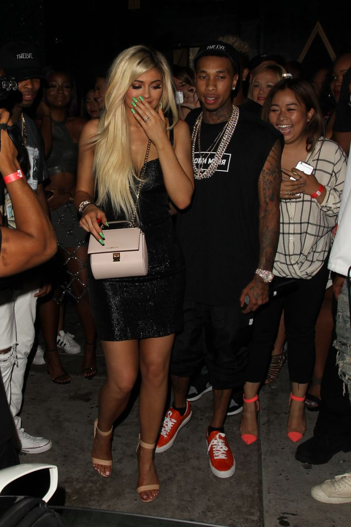 Tyga surprises Kylie with a brand new Ferrari.