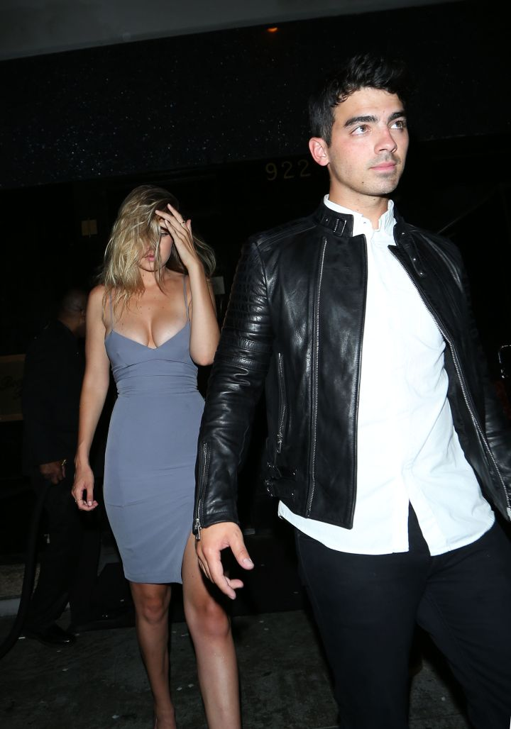 Gigi Hadid and boyfriend Joe Jonas made a date night out of Kylie Jenner's birthday party.
