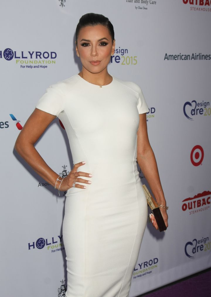 Eva Longoria rocked a tight white dress at a charity event in L.A.