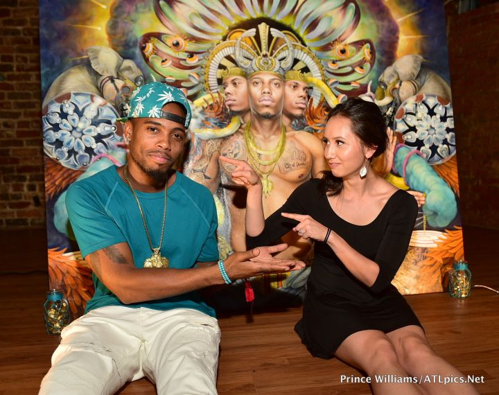 B.o.B chatted it up with the artist who painted his album artwork, Hannah Yata.