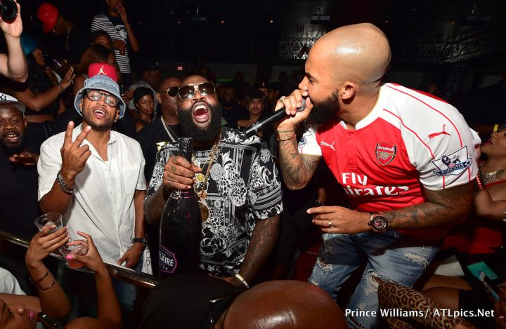 Rick Ross & Kenny Burns turned up as they hosted Compound last night in Atlanta.