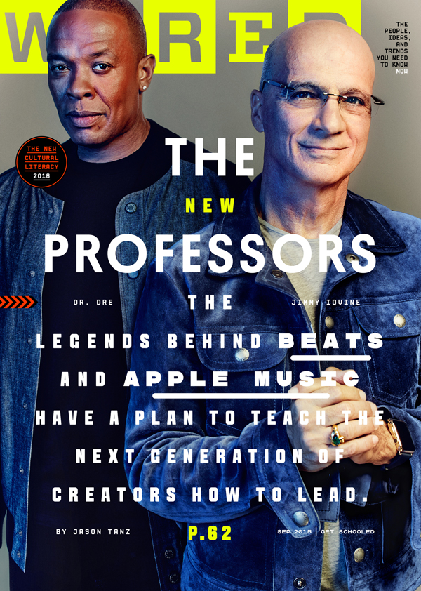 Dr. Dre and Jimmy Iovine cover WIRED Magazine