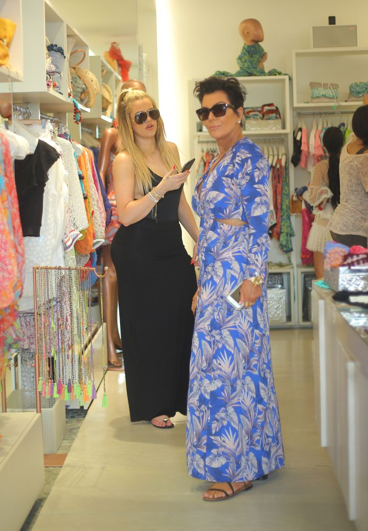 Khloe and Kris did a little shopping.