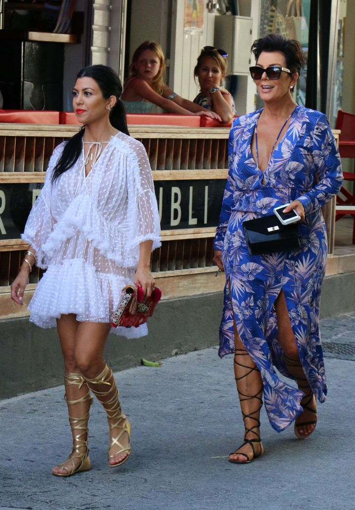 Kris Jenner and Kourtney Kardashian were spotted out and about in St. Barts.