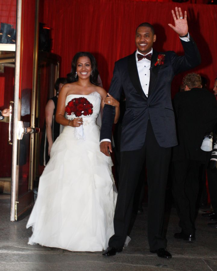 La La & Melo after they tied the knot.