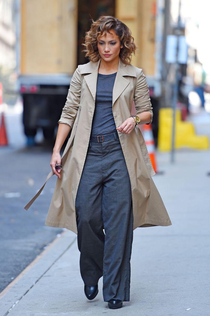 """Jennifer Lopez makes fighting crime so stylish on the set of """"Shades of Blue"""" in SoHo, NYC."""