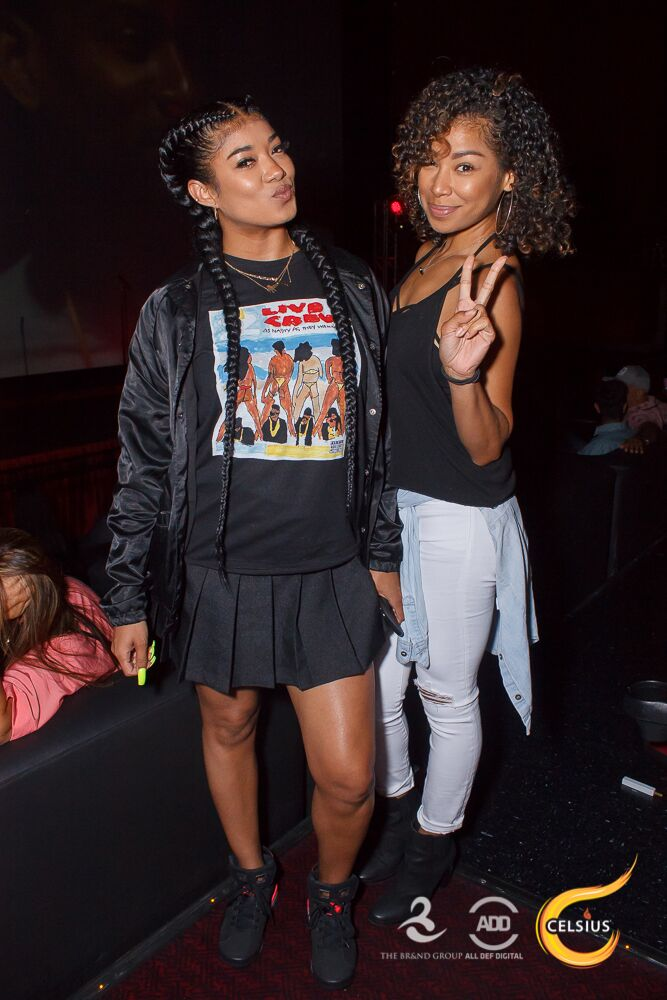 Singer Mila J and a guest at All Def Comedy Live in L.A.