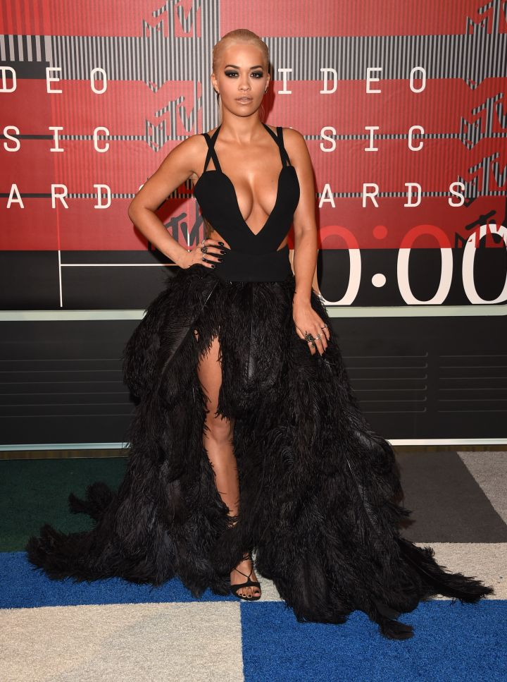 Work! Rita Ora's feathers are unstoppable.