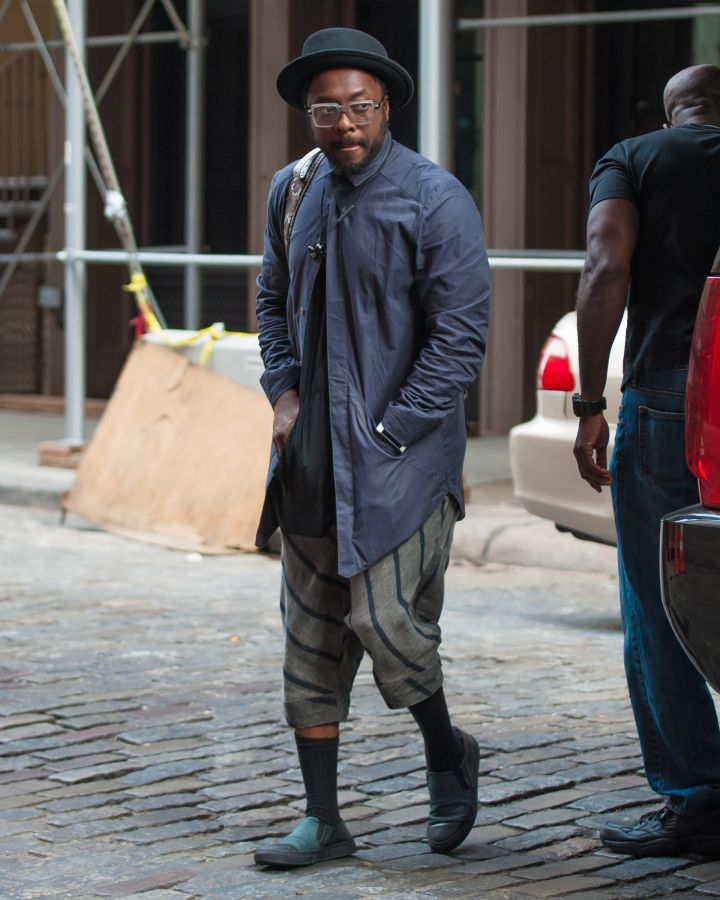 There's getting dressed, and then there is getting dressed. Here is will.i.am out and about in New York City.