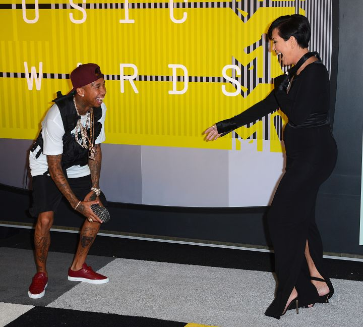 Hey Tyga!! WHAT ARE THOSE? Kris Jenner didn't say that, but we really wish she did.