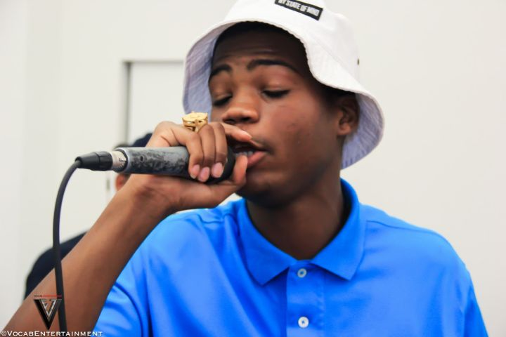 Stro rocks the mic at the Bloggers Appreciate Mixer presented by Marie Driven.