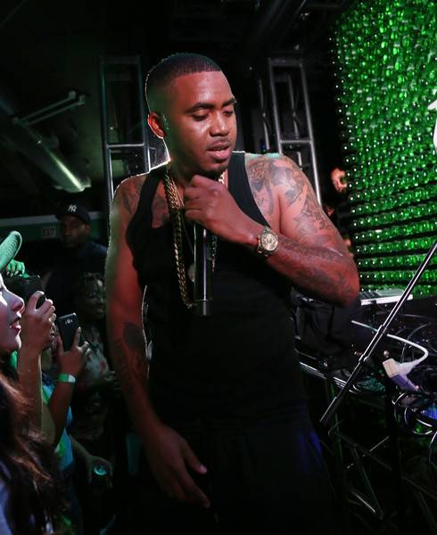 Nas did his thing at an intimate concert for a crowd of 75 inspired young fans at The Sprite Corner in New York City.