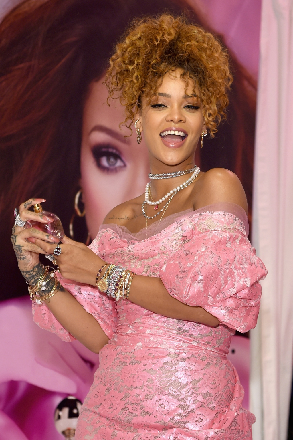 Rihanna at 'RiRi' launch in Brooklyn