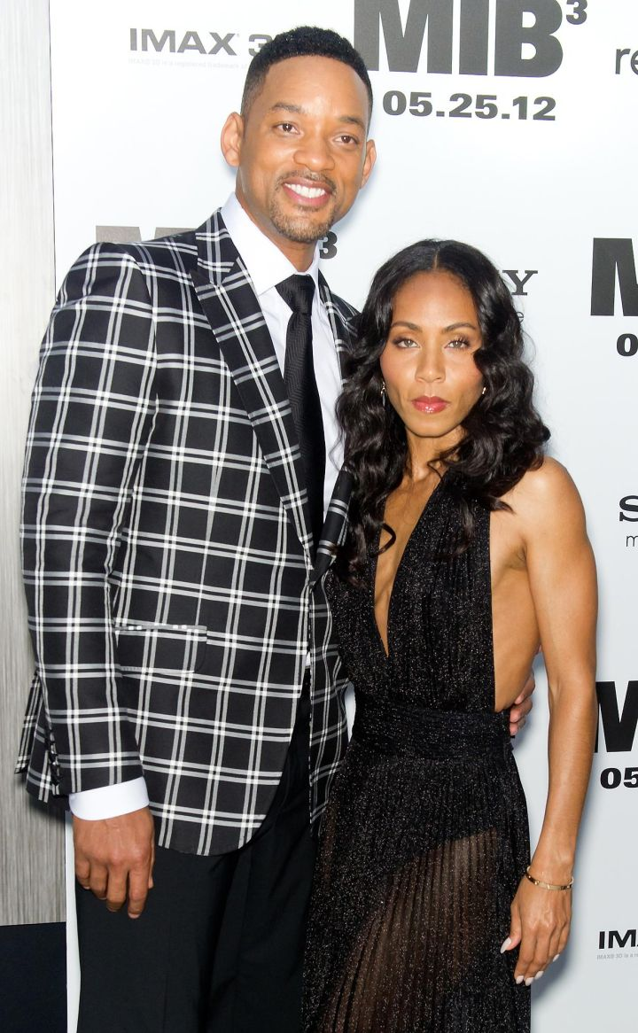 Will Smith rocks plaid on the red carpet with Jada