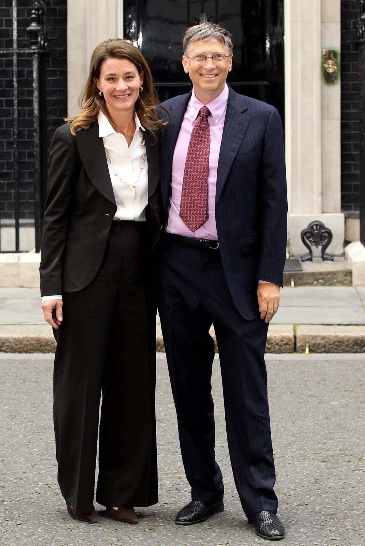 Bill Gates and Melinda Gates Visit Downing Street