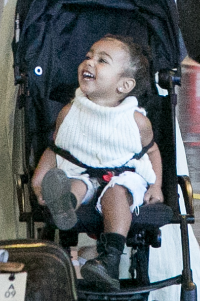 North only smiles in front of cameras sometimes – just like dad.