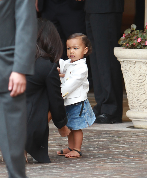 "North's ""You must be crazy"" Kanye face."