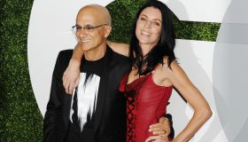 Beats co-founder Jimmy Iovine (L) and model Liberty Ross arrive at the 2014 GQ Men Of The Year Party at Chateau Marmont on December 4, 2014 in Los Angeles, California.