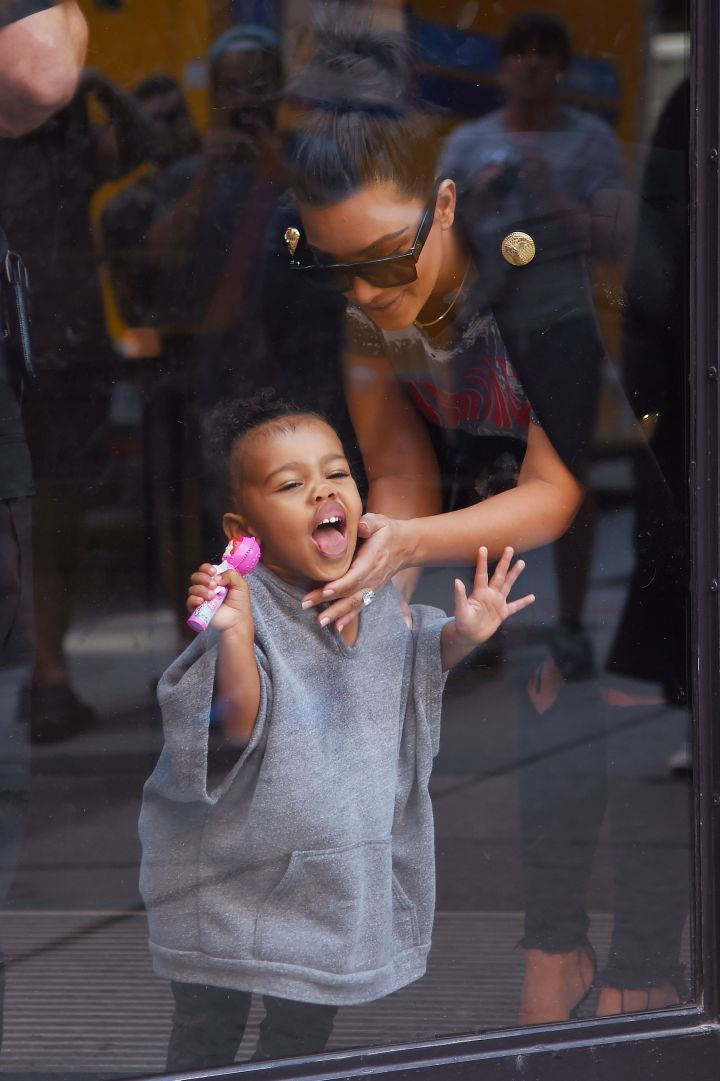 North clowns the paparazzi, just like dad would if he were there…