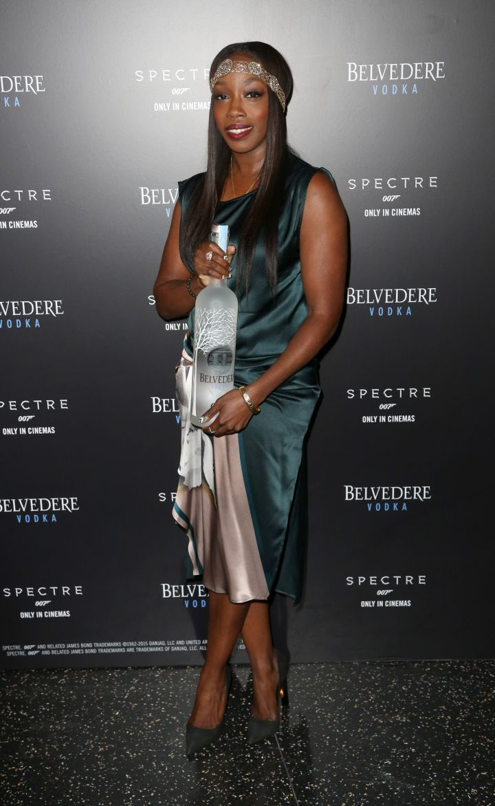 "Singer Estelle & Belvedere Vodka celebrate James Bond's ""Spectre"" partnership in NYC."