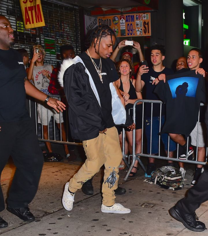 Travi$ Scott leaves his 3-hour concert in NYC, with rumored gal pal Rihanna not far behind.