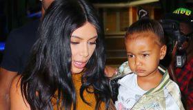 Kim kardashian and north west in new york