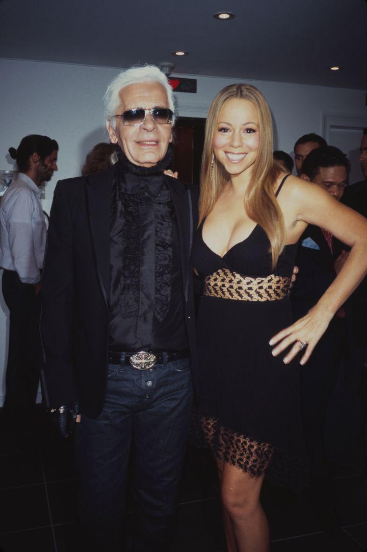 Throwback of Mariah Carey with Karl.