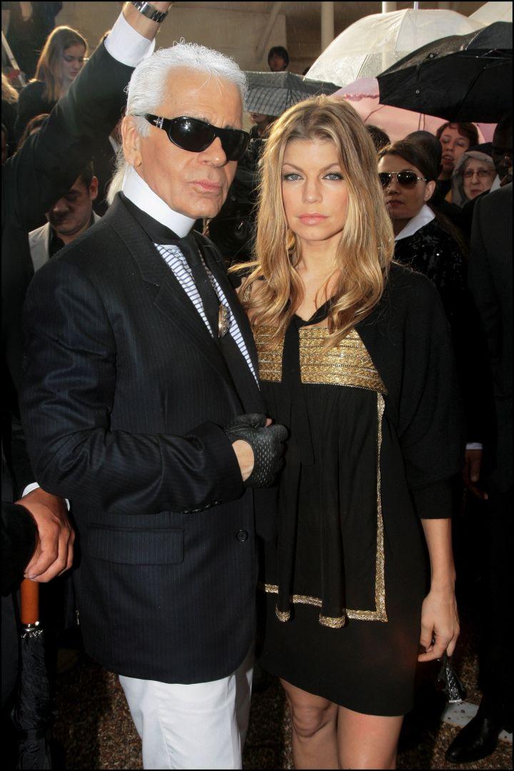 Fergie Ferg poses with Karl.