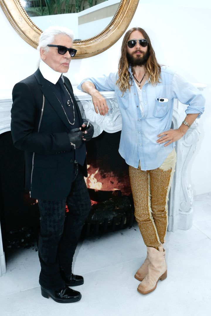 Jared Leto & Karl get along perfectly.