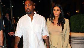 kim kardashian wearing Kanye West's Yeezy Season 2