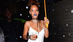 rihanna fashion week event block party