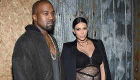 Kanye West and Kim Kardashian attend the Givenchy fashion show during Spring 2016 New York Fashion Week