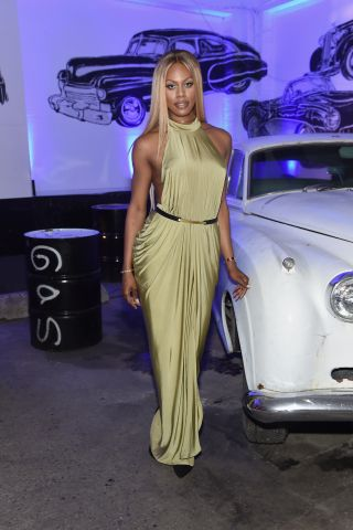 Laverne Cox attends the Givenchy SS16 after party