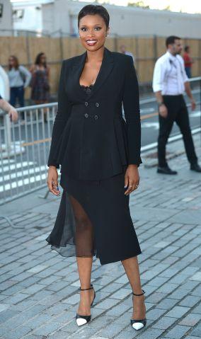 Jennifer Hudson is seen around Spring 2016 New York Fashion Week