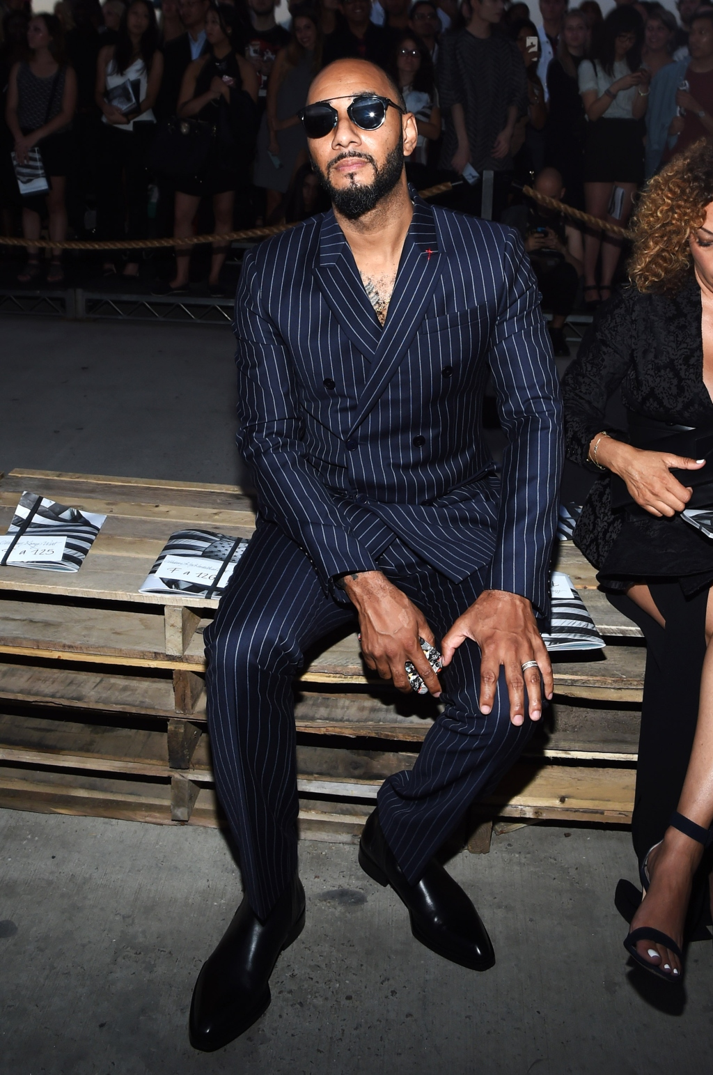 Swizz Beats attends the Givenchy show during Spring 2016 New York Fashion Wee