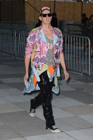 Jeremy Scott arrives to The Givenchy Show NYFW