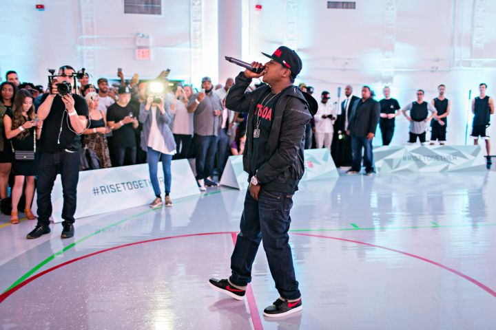 Jadakiss performing at EA Sports' NBA Live 16 Preview in New York City.