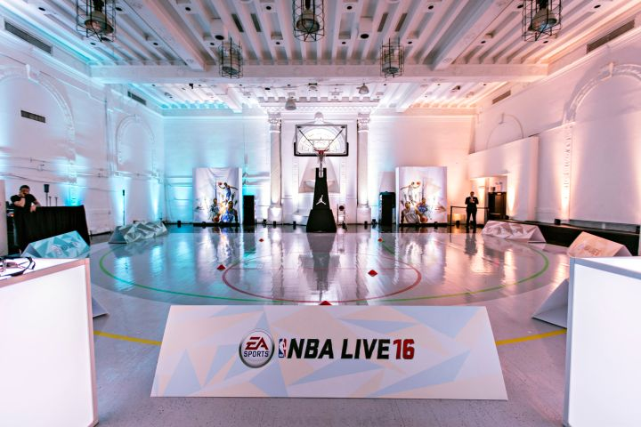 EA Sports' NBA Live 16 Preview in New York City.